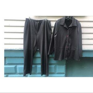 XXL 1979's 2pc suit Vintage Matching Set Plus Size